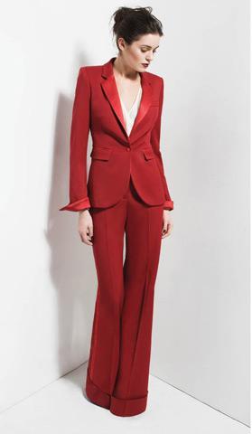 red tuxedo, rachel zoe