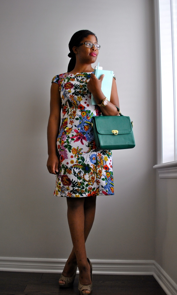 Winners' Floral Dress for the office